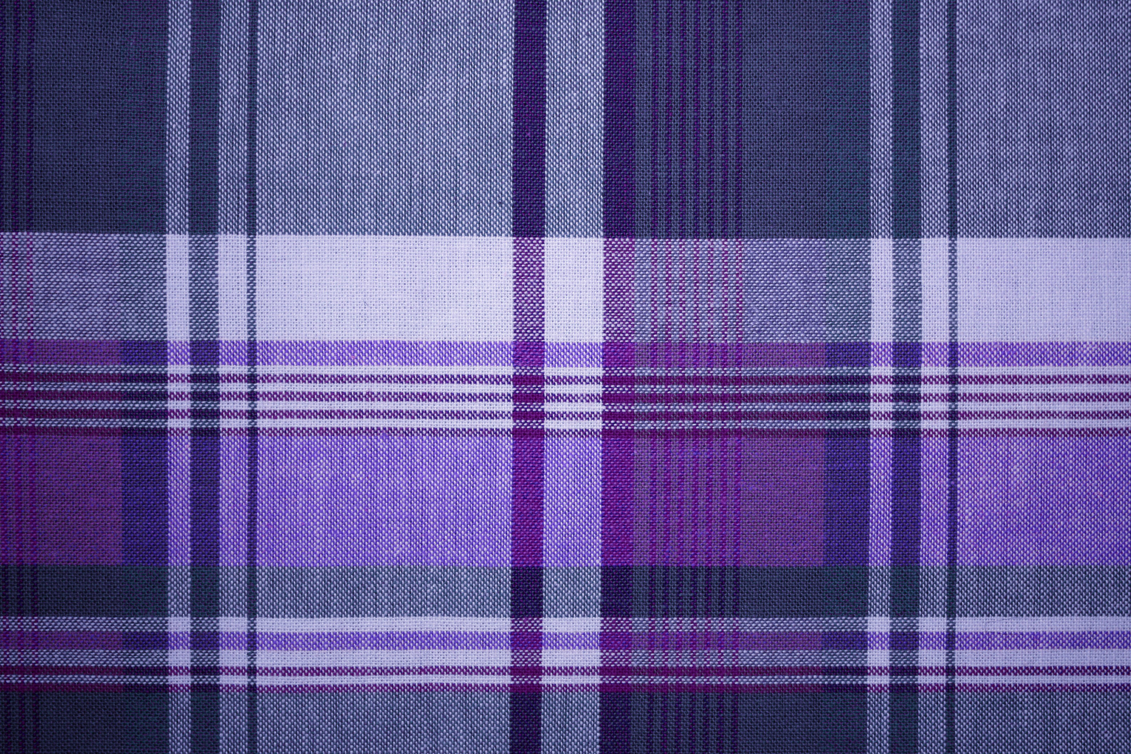 Purple And Blue Plaid Fabric Texture Picture Free