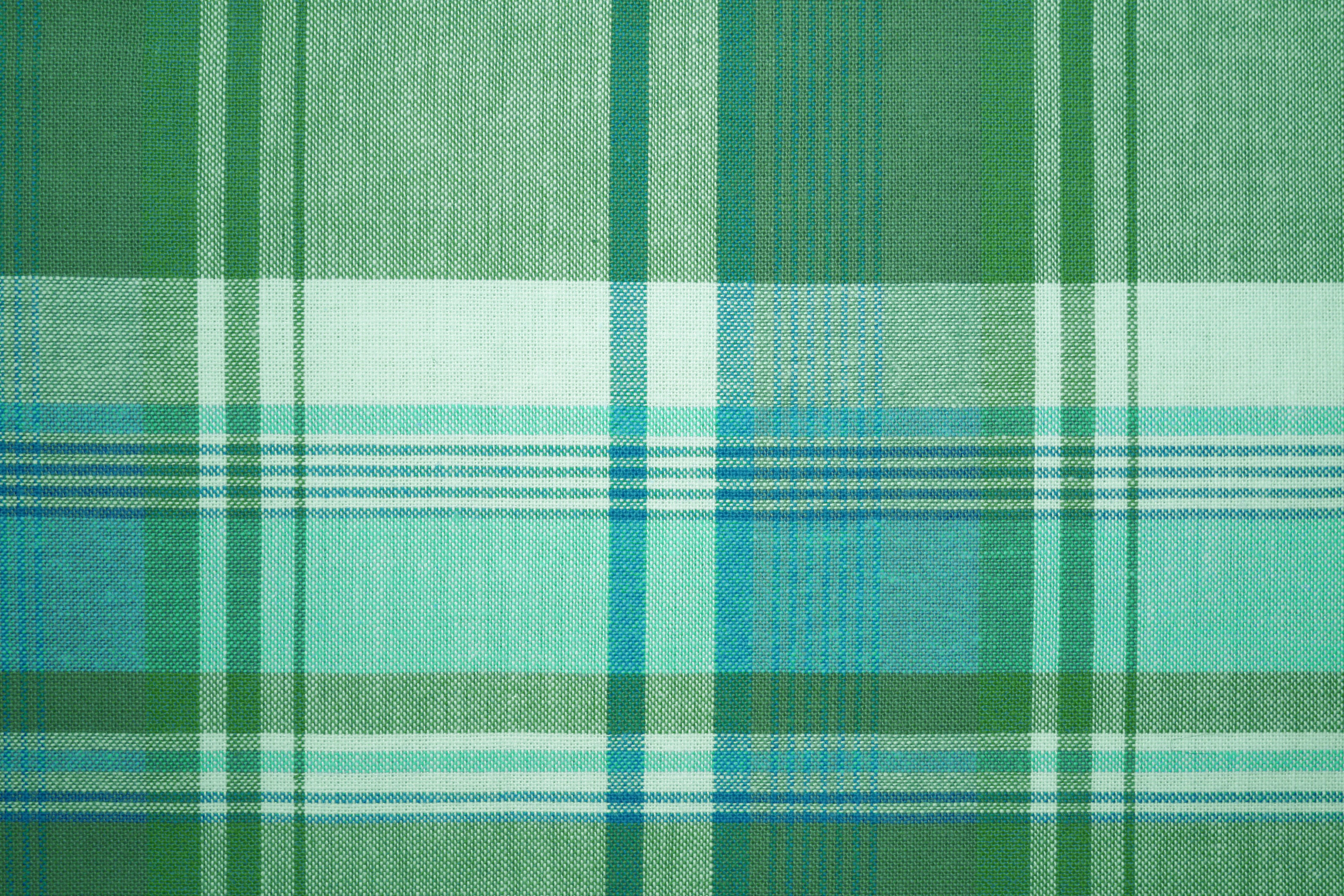 Green and turquoise plaid fabric texture picture free - Plaid bleu turquoise ...