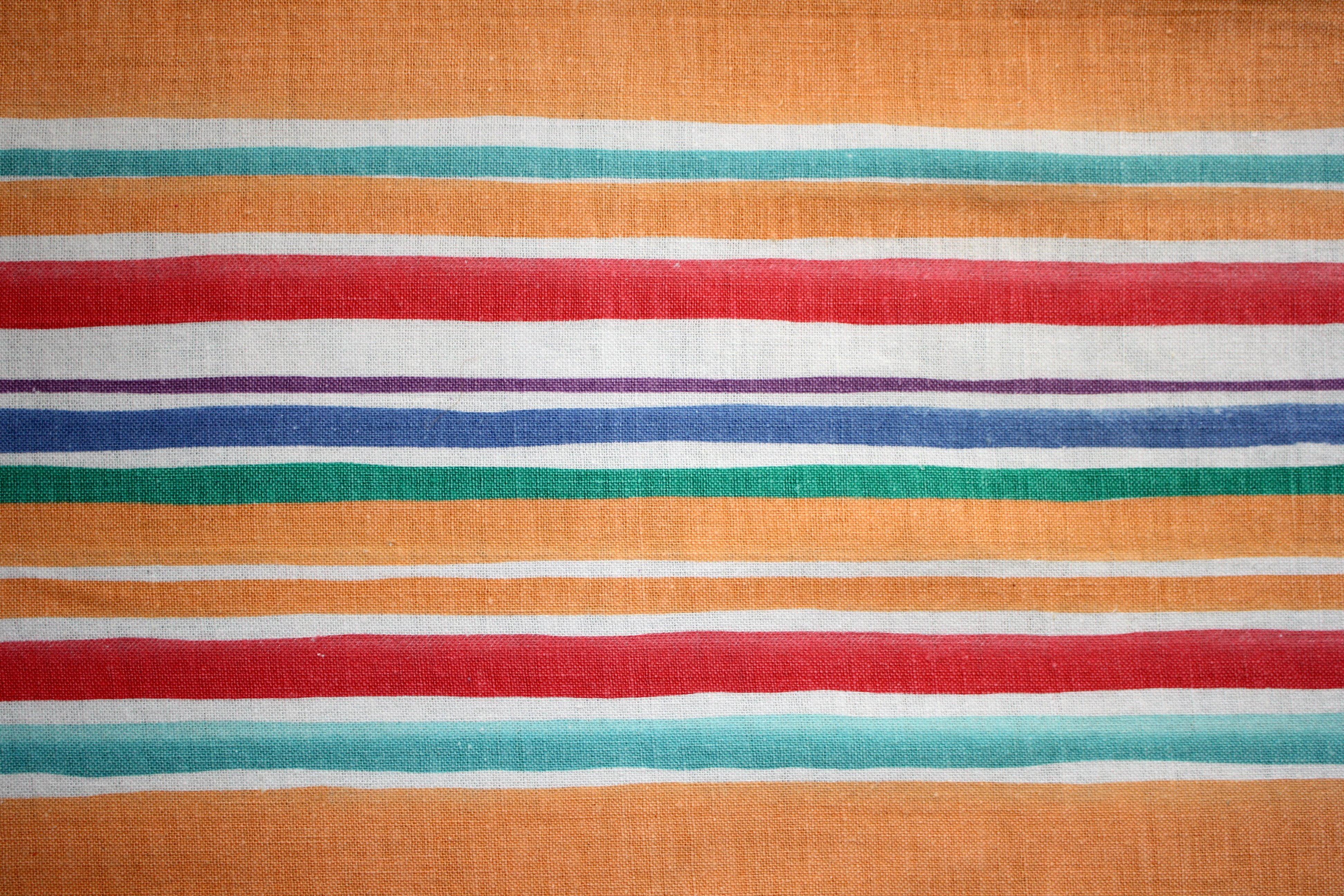 Striped Fabric Texture Orange Red And Green Picture