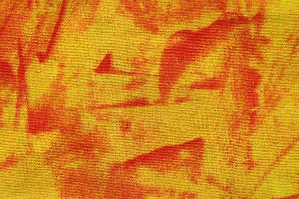 Yellow and Orange Random Pattern Print Fabric Texture - Free High Resolution Photo