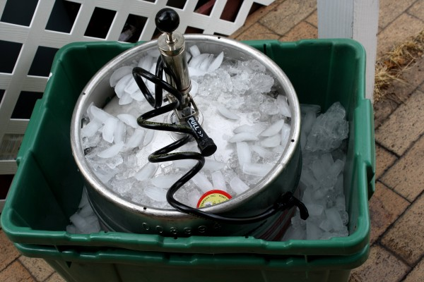 Keg of Beer on Ice - Free High Resolution Photo