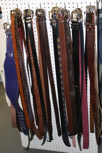 Belts Hanging on Display at Used Clothing Store - Free High Resolution Photo