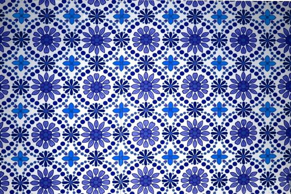 Blue Flowers Wallpaper Texture - Free High Resolution Photo