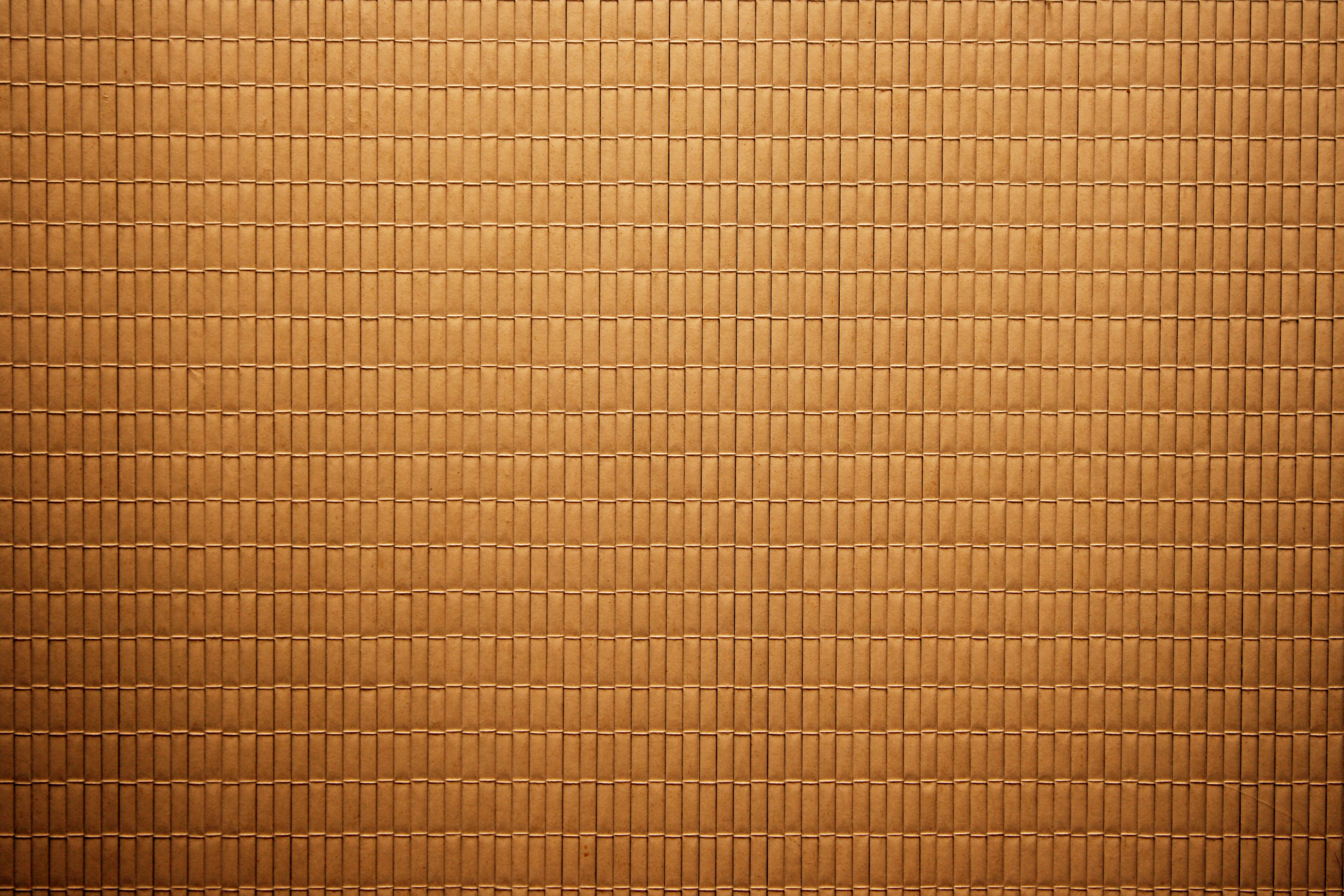 Brown Bamboo Mat Texture Picture Free Photograph
