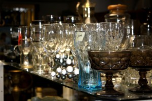 Glassware on Display at Thrift Shop - Free High Resolution Photo