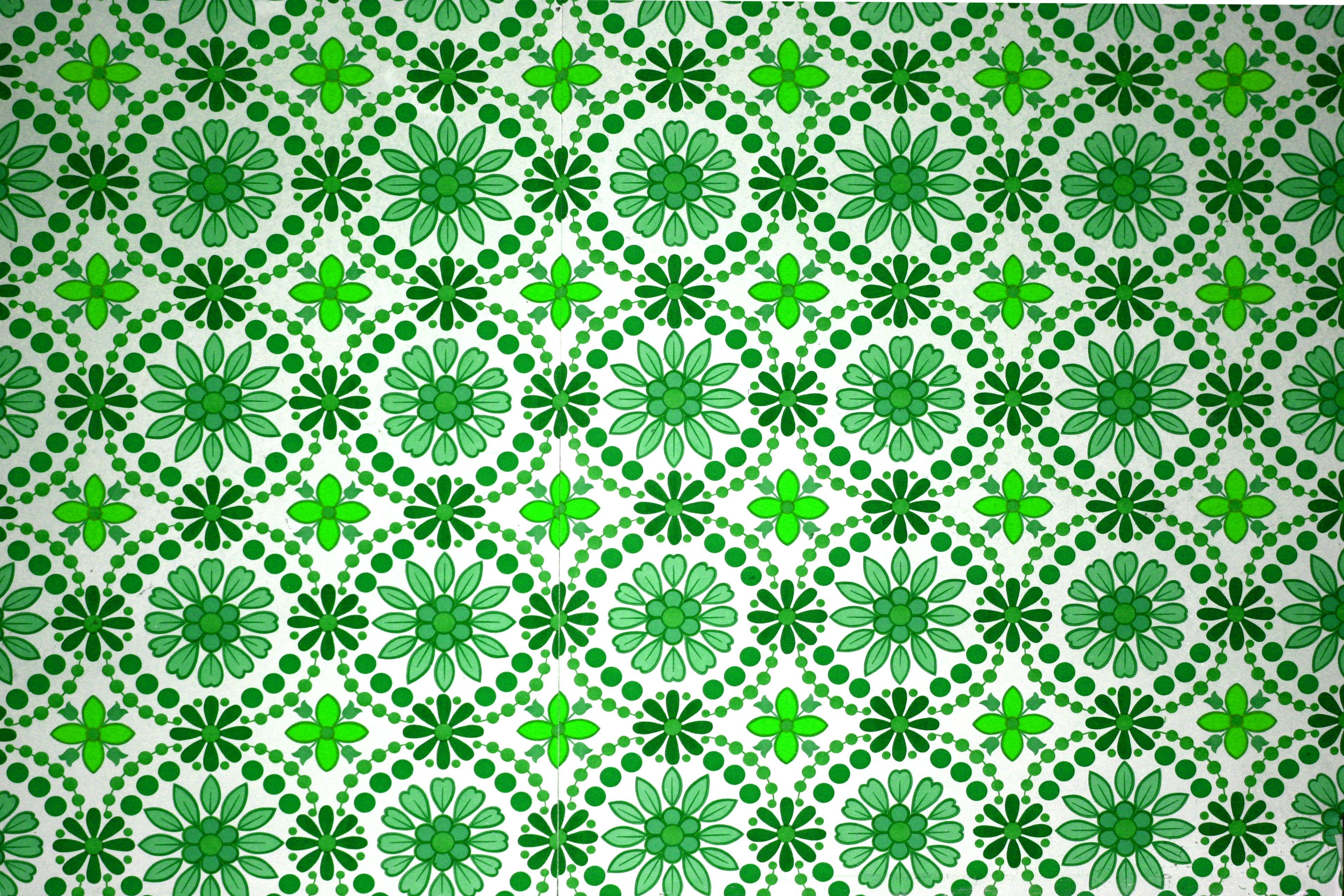 Green flower textures