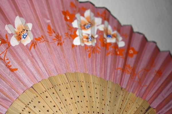 Painted Pink Paper Fan Close Up - Free High Resolution Photo