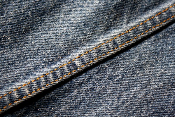 Seam on Denim Blue Jeans - Free High Resolution Photo