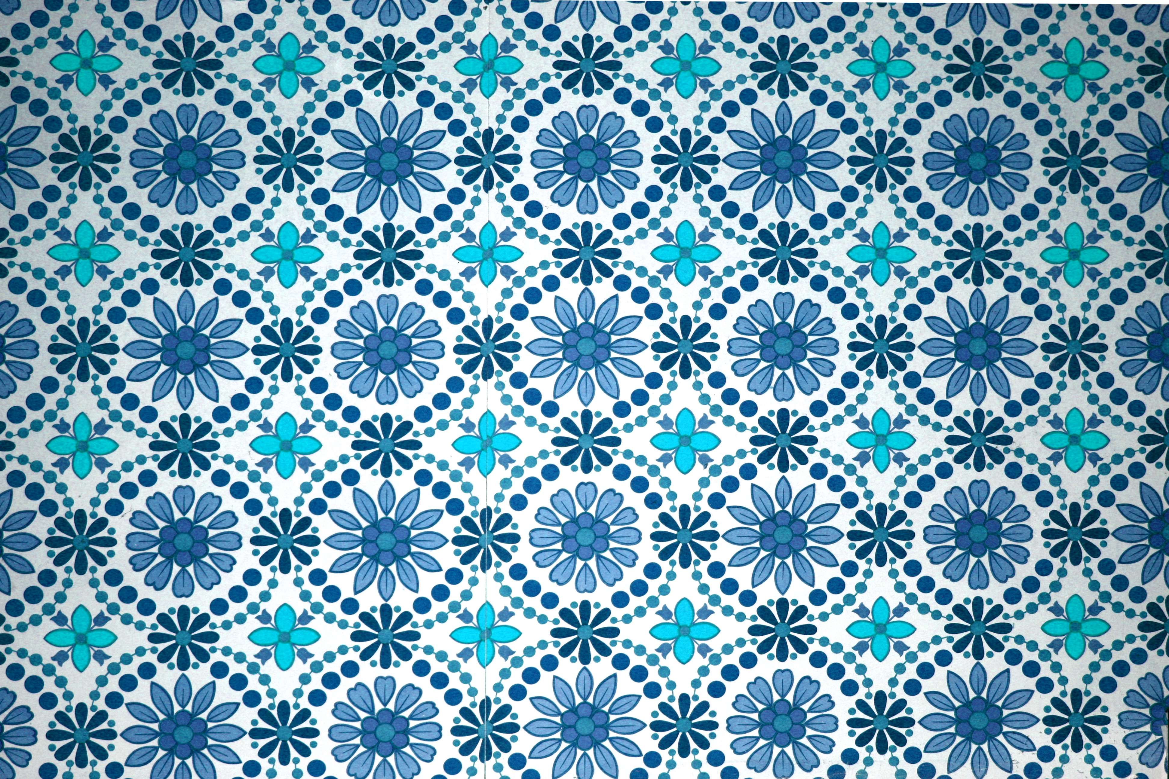 Turquoise Flowers Wallpaper Texture Picture | Free Photograph | Photos ...