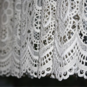 White Lace Curtain Close Up - Free High Resolution Photo
