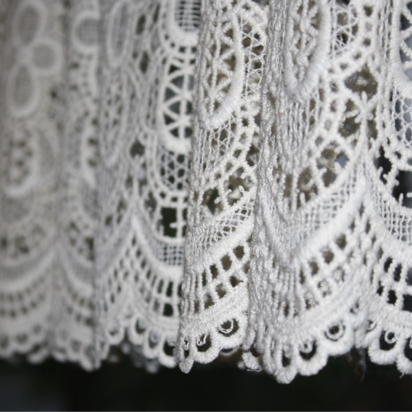 white lace curtain close up picture free photograph