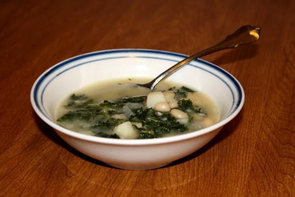 Bowl of Potato Kale Soup - Free High Resolution Photo