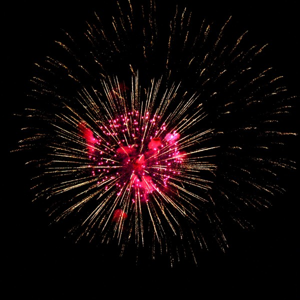 Fireworks Starburst Red And Gold Picture Free Photograph Photos Public Domain