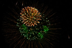 Green and Gold Fireworks - Free High Resolution Photo