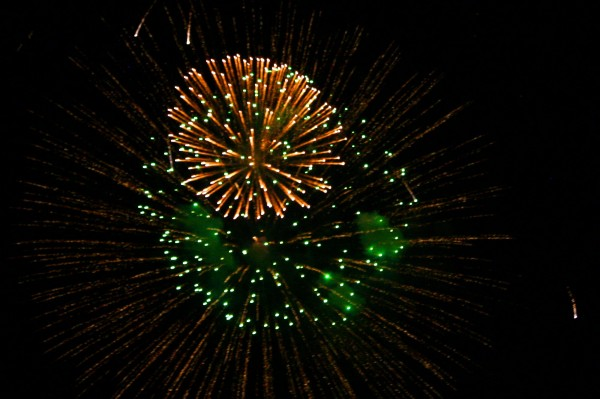 Green and Gold Fireworks Picture | Free Photograph ...