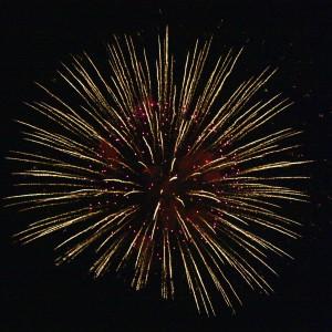 July 4 Fireworks Starburst - Free High Resolution Photo