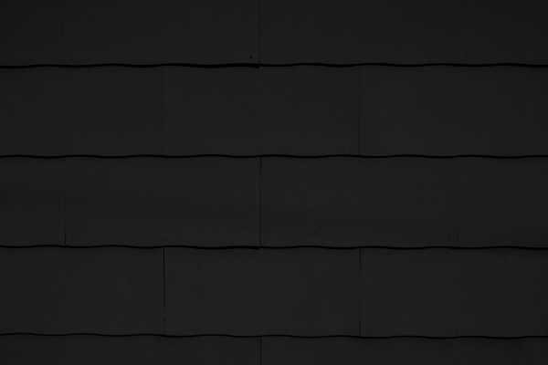 Black Scalloped Asbestos Siding Shingles Texture Picture