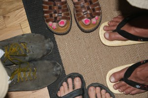 Four Sets of Feet - Free High Resolution Photo