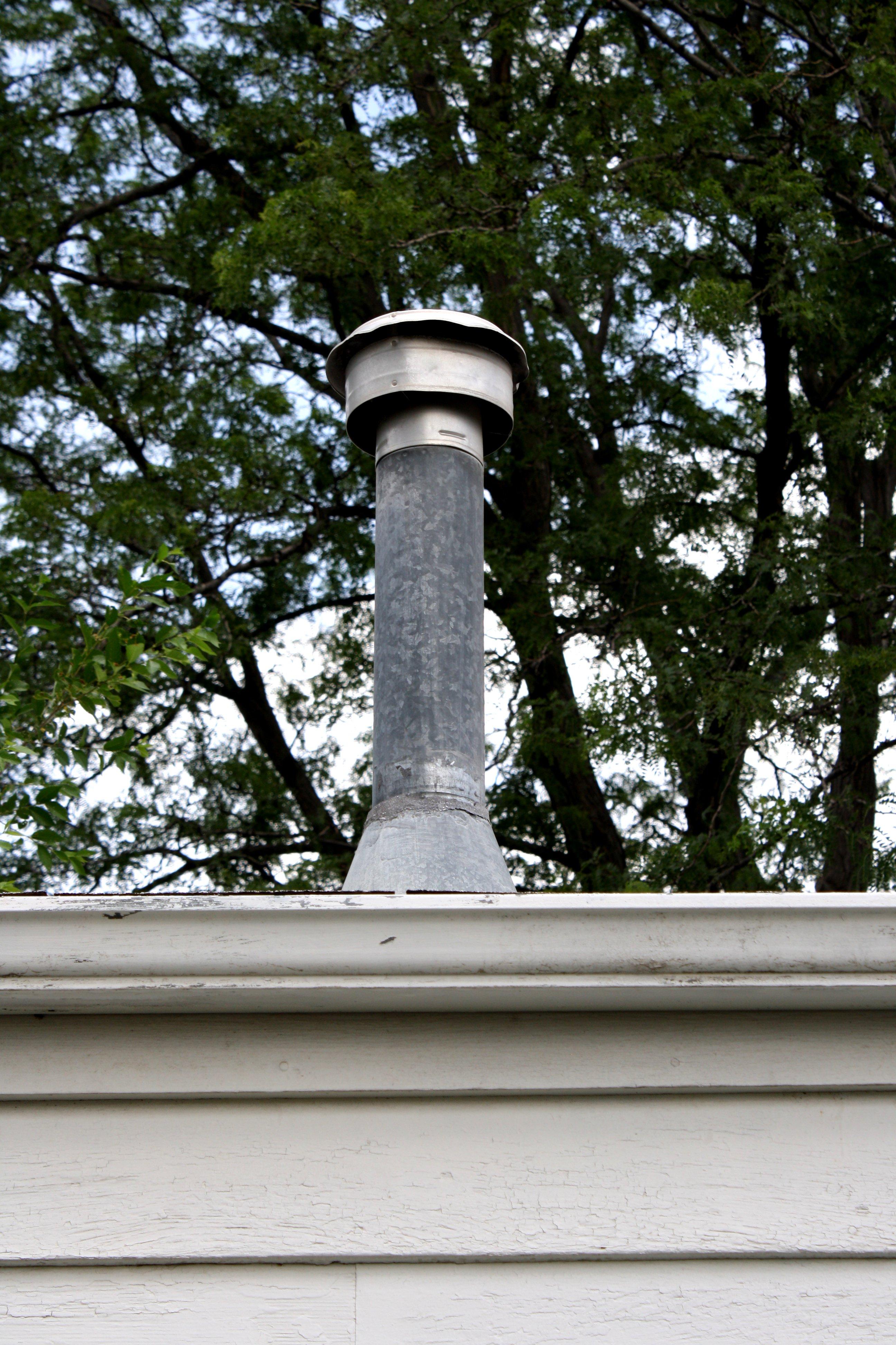 Furnace Roof Vent Or Chimney