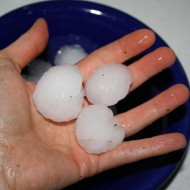 Hand Holding Big Hailstones - Free High Resolution Photo