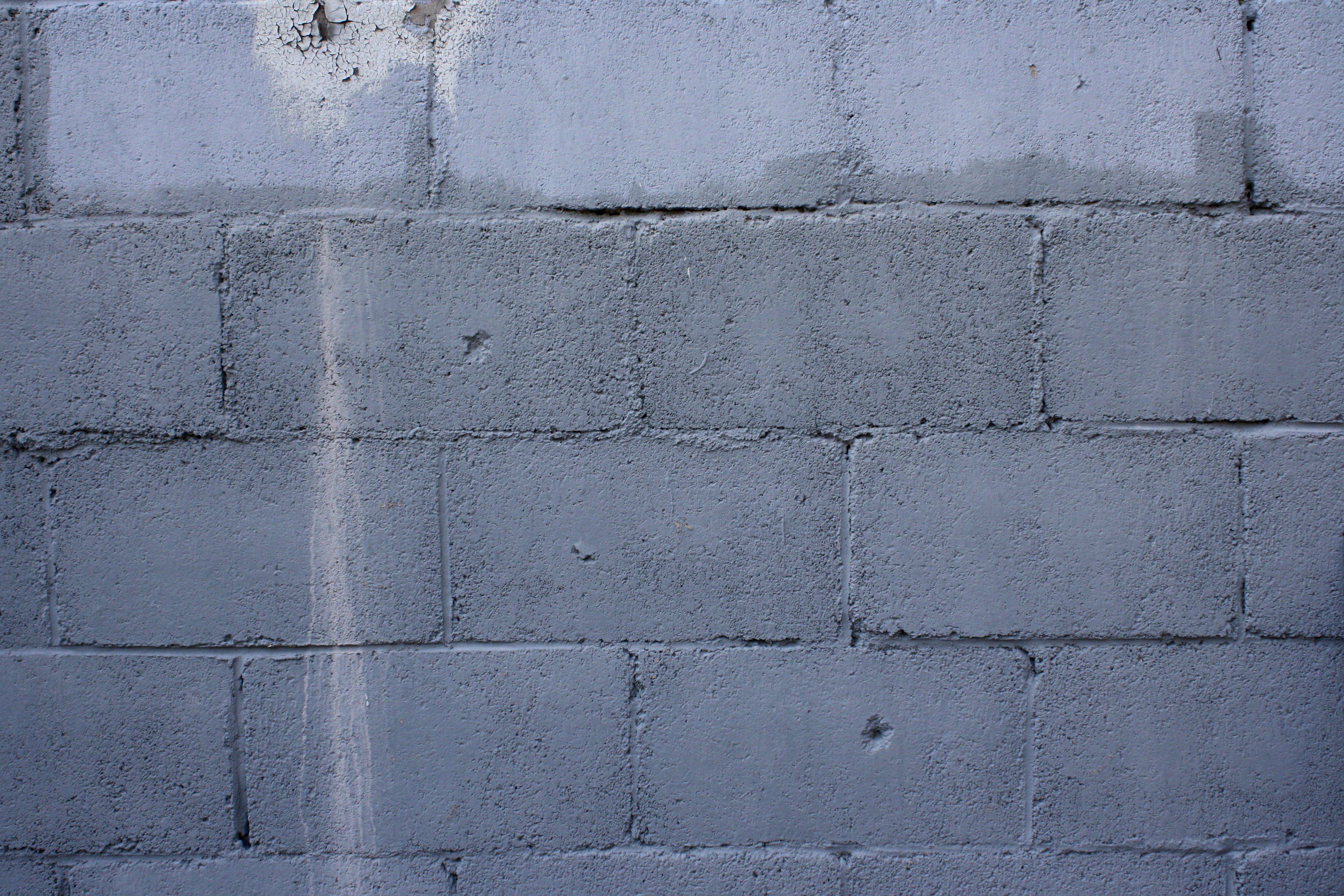 Old Cinder Block Wall Painted Gray Texture