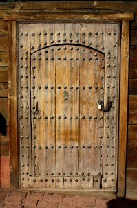 Old World Rustic Wooden Door with Bolts and Padlock - Free High Resolution Photo