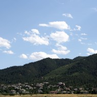 Pine Covered Foothills with Houses in Foreground - Free High Resolution Photo