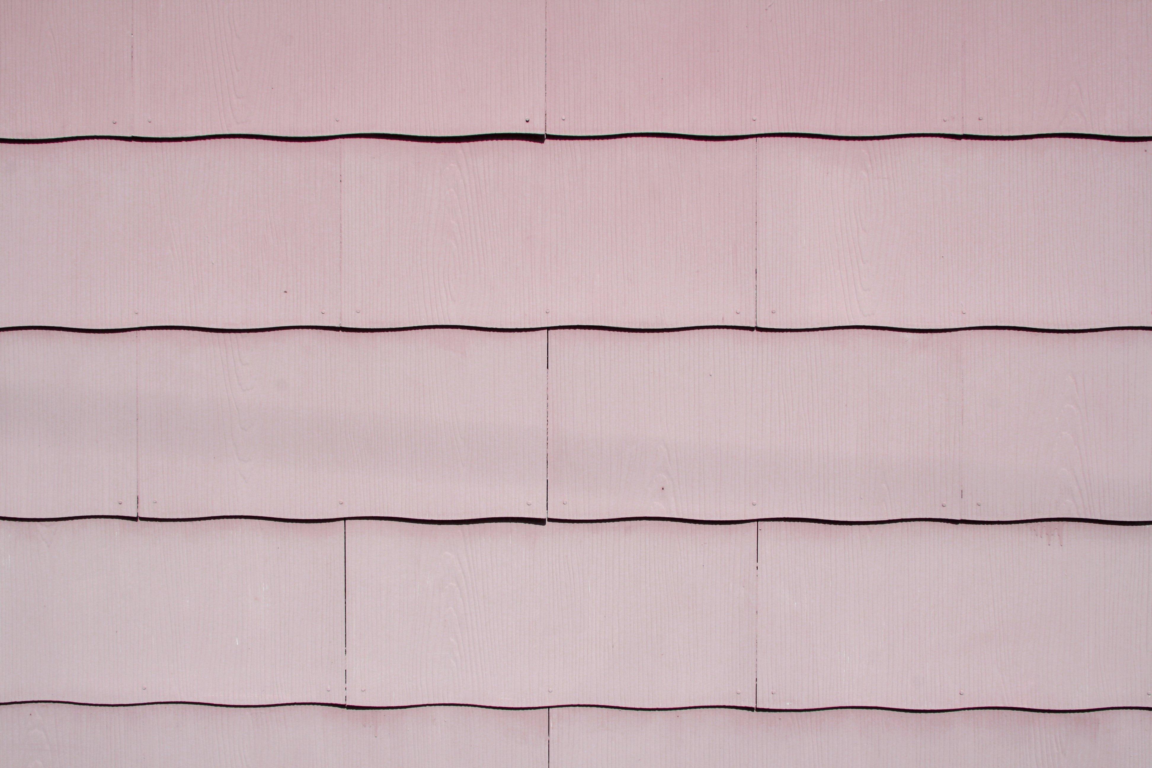 Rose Colored Scalloped Asbestos Siding Shingles Texture