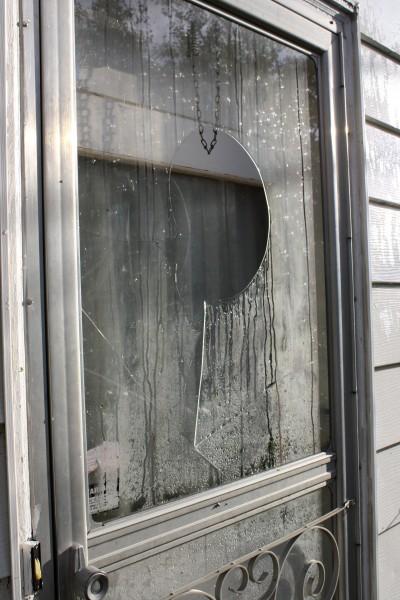 Storm Door with Broken Glass - Free High Resolution Photo
