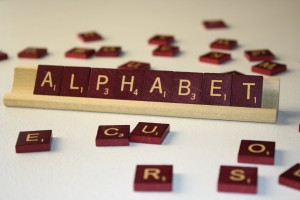 Alphabet - Free High Resolution Photo of the word Alphabet spelled in Scrabble tiles