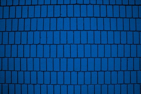 Blue Brick Wall Texture with Vertical Bricks - Free High Resolution Photo