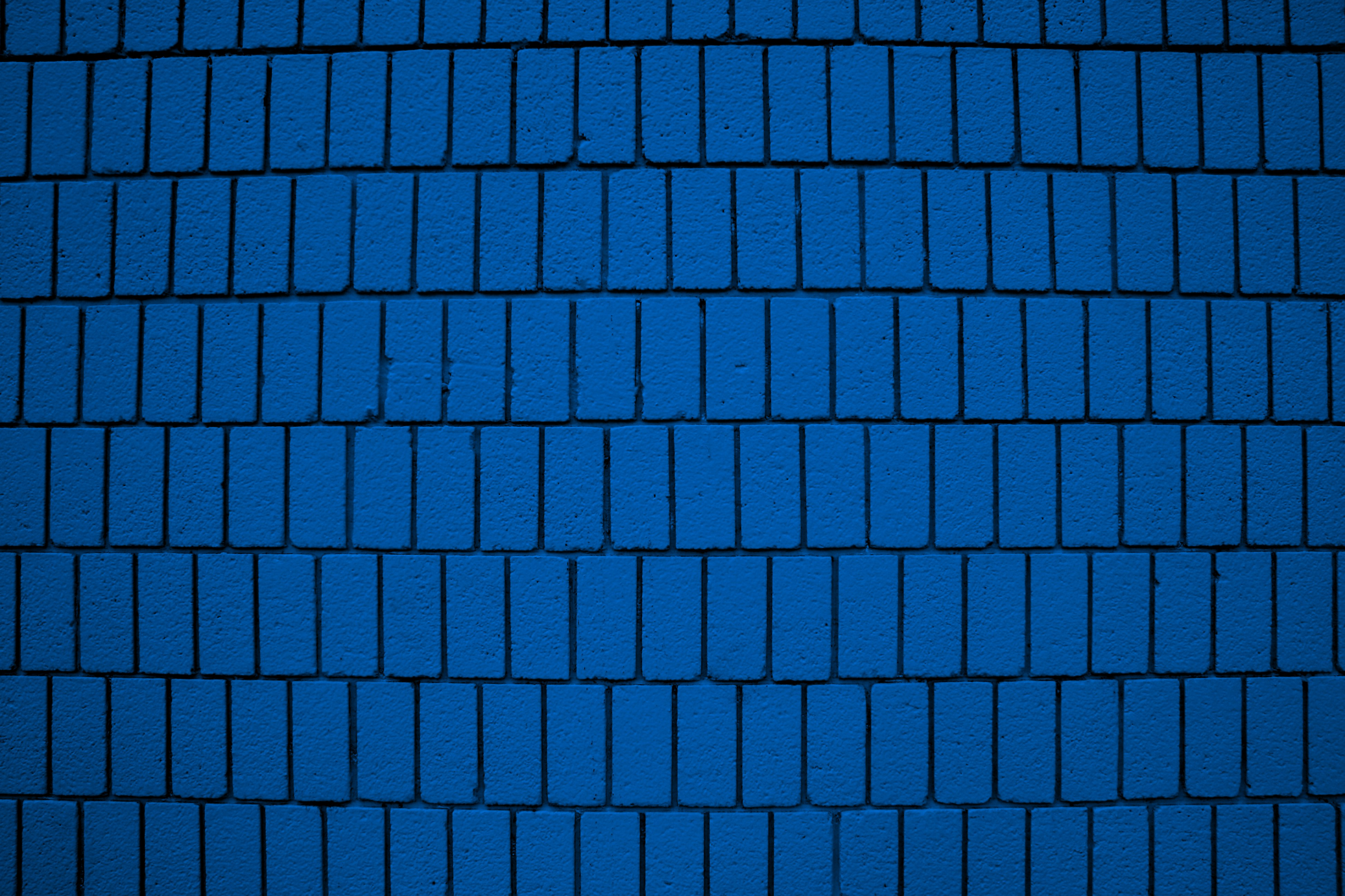 Blue Brick Wall Texture With Vertical Bricks Picture