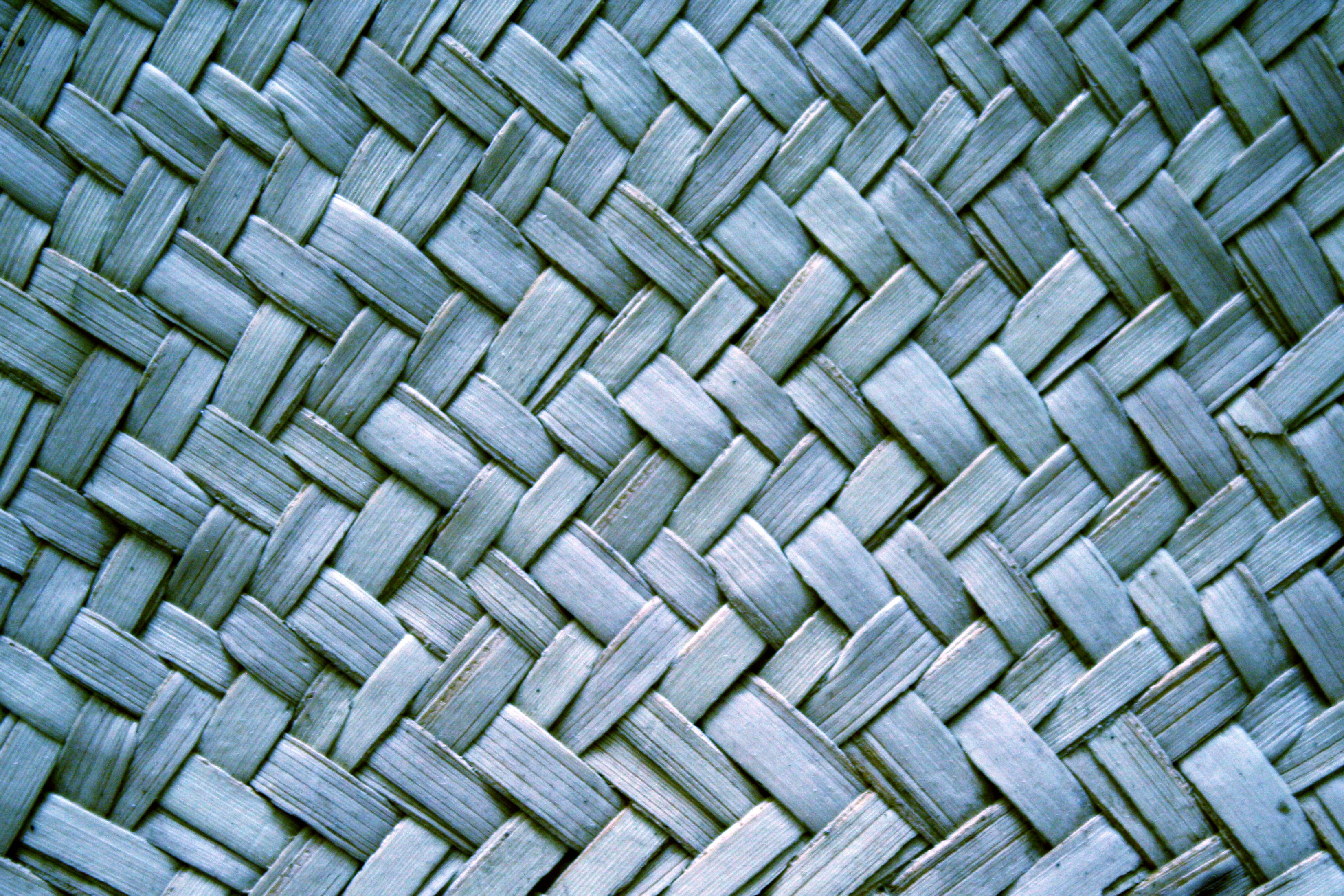 Blue Woven Straw Texture Picture Free Photograph