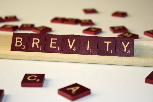 Brevity - Free High Resolution Photo of the word Brevity spelled in Scrabble tiles