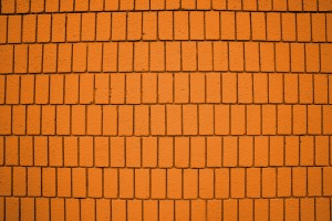 Bright Orange Brick Wall Texture with Vertical Bricks - Free High Resolution Photo