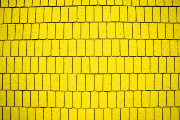 Bright Yellow Brick Wall Texture with Vertical Bricks - Free High Resolution Photo