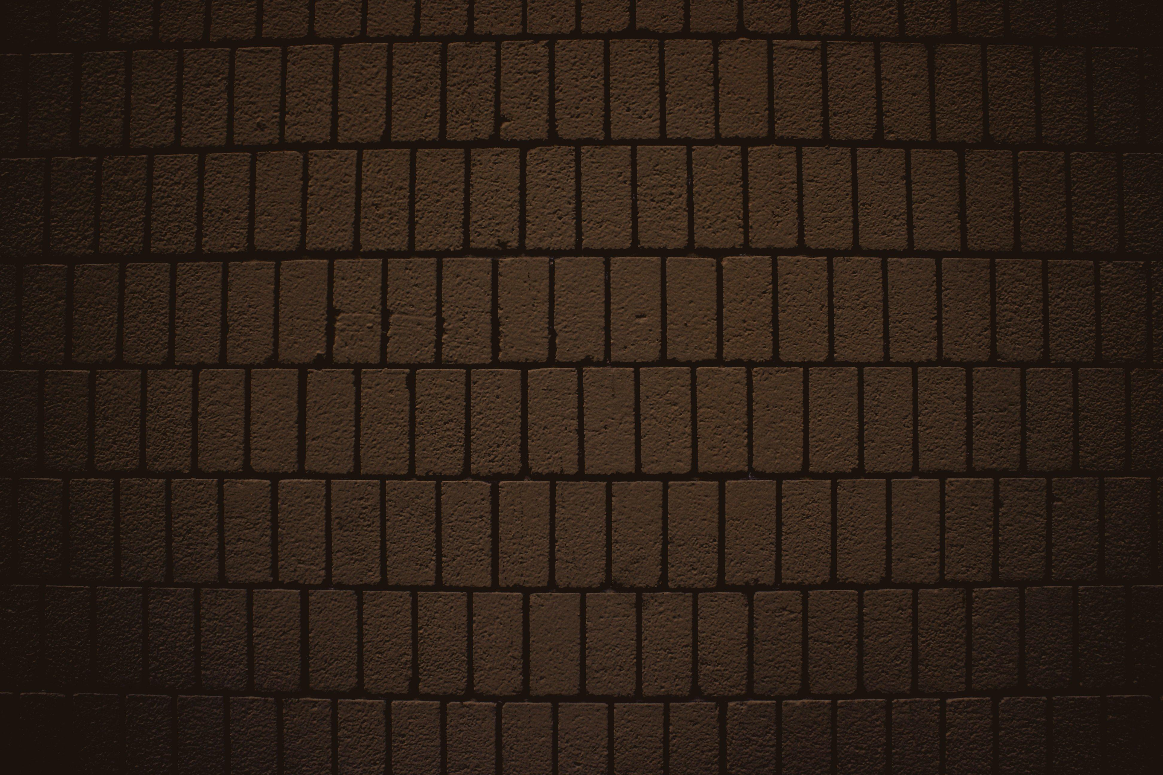 Chocolate Brown Brick Wall Texture with Vertical Bricks ...