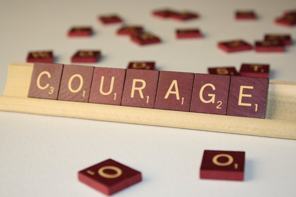 Courage - Free high resolution photo of Scrabble tiles spelling the word courage