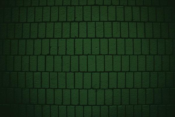 Dark Green Brick Wall Texture with Vertical Bricks - Free High Resolution Photo