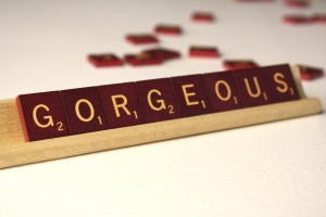 Gorgeous - Free High Resolution Photo of the word Gorgeous spelled in Scrabble tiles