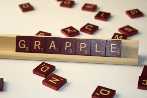 Grapple - Free High Resolution Photo of the word Grapple spelled in Scrabble tiles