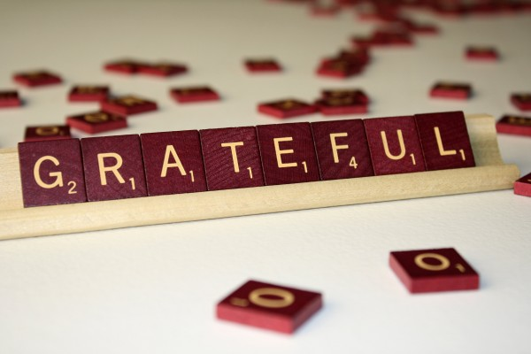 Grateful - Free High Resolution Photo of the word Grateful spelled in Scrabble tiles