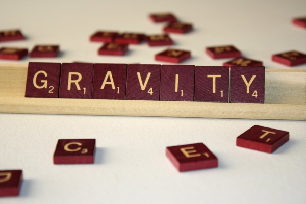 Gravity - Free High Resolution Photo of the word Gravity spelled in Scrabble tiles