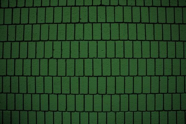Green Brick Wall Texture with Vertical Bricks - Free High Resolution Photo