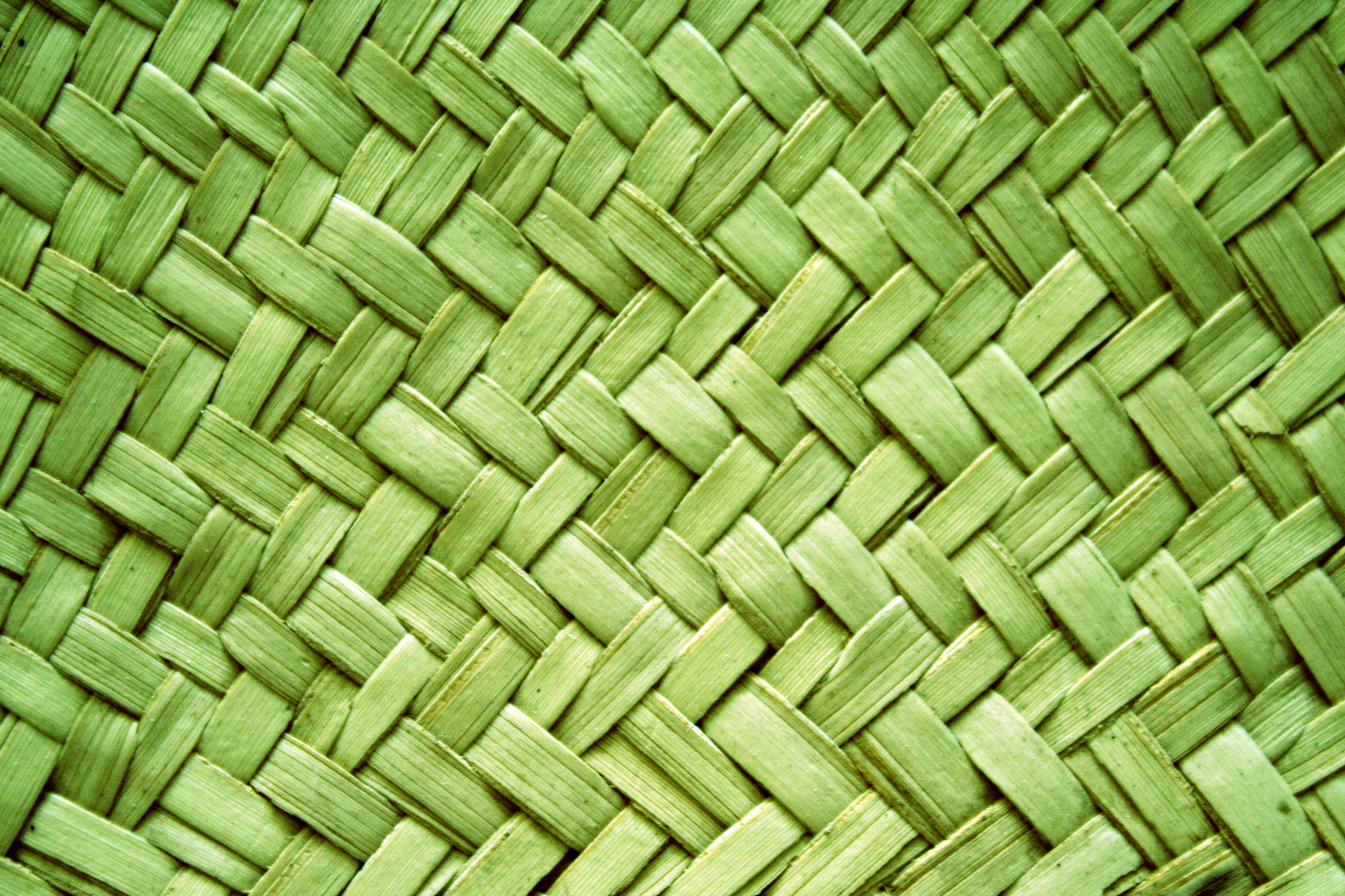 Green Woven Straw Texture Picture Free Photograph