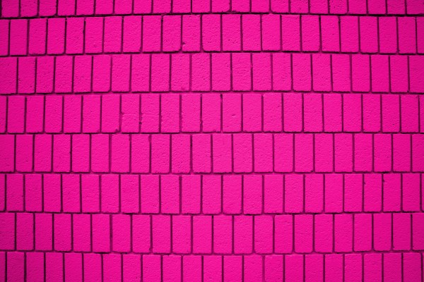 Hot Pink Brick Wall Texture with Vertical Bricks - Free High Resolution Photo