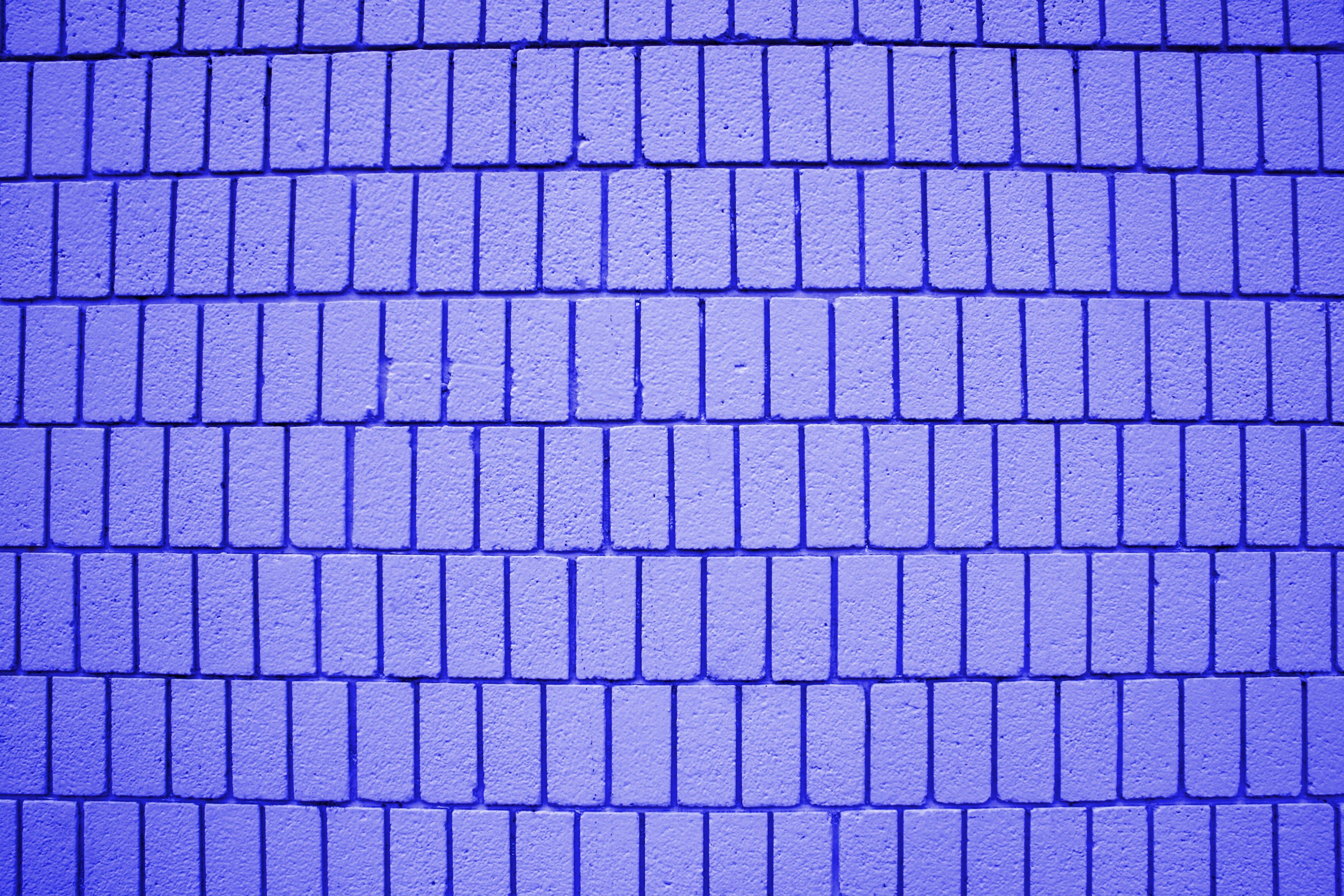 Indigo Blue Brick Wall Texture With Vertical Bricks