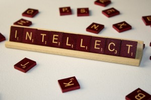 Intellect - Free High Resolution Photo of the word intellect spelled in Scrabble tiles