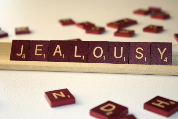 Jealousy - Free High Resolution Photo of the word Jealousy spelled in Scrabble tiles