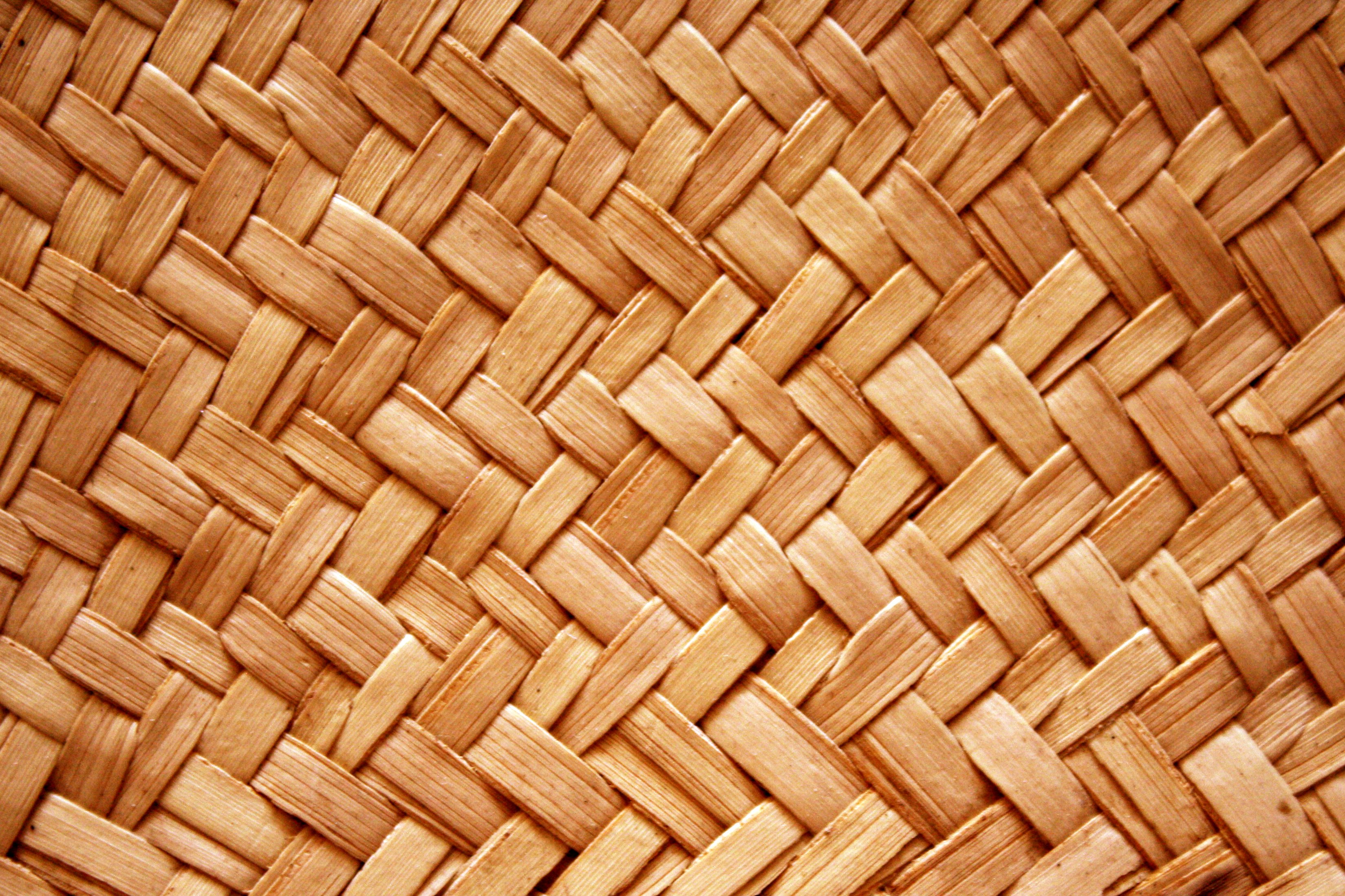 Light Brown Woven Straw Texture Picture Free Photograph
